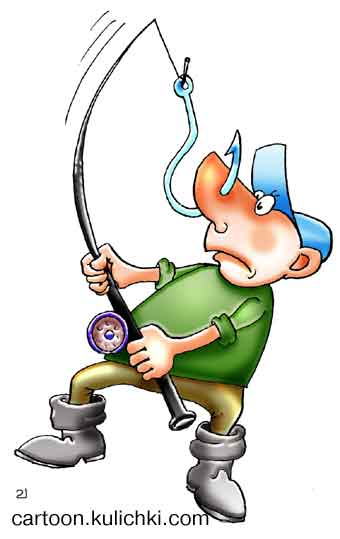 Карикатура про рыбаков рыбак поймал