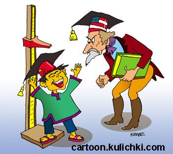 Карикатура о науке в китае умный